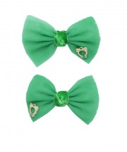bow clip tulle emerald