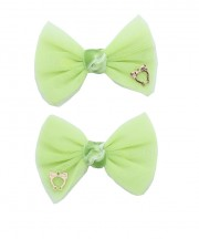 bow clip tulle mint