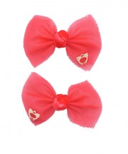 bow clip tulle red