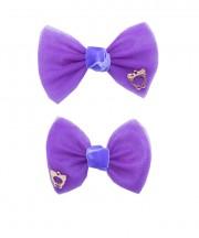 bow clip tulle regal purple