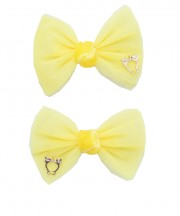 bow clip tulle yellow