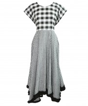 Adult Black & White Gingham Dress