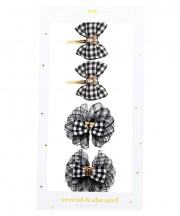 Gingham Clips Box Sets - Black & White