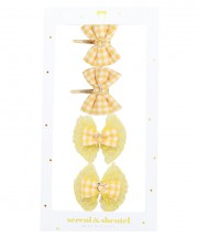 Gingham Clips Box Sets - Yellow
