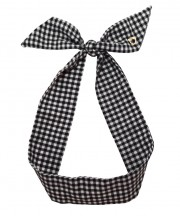 Gingham Twilly - Black & White