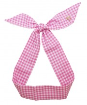 Gingham Twilly - Pink