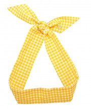 Gingham Twilly - Yellow