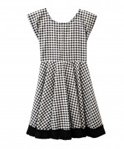 Kids Black & White Gingham Dress