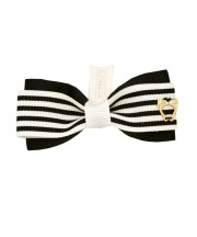 School Stripes Bow Tie - Black & Cream