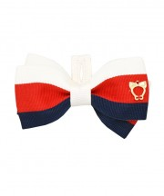 School Stripes Bow Tie - Navy, Red & White