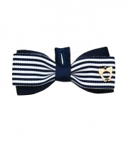 School Stripes Bow Tie - Navy & White