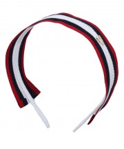 School Stripes Headband - Black, White & Red