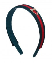 School Stripes Headband - Green & Red