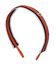 School Stripes Headband - Orange