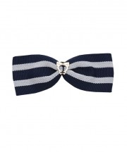 School Stripes Large Bow - Black & White