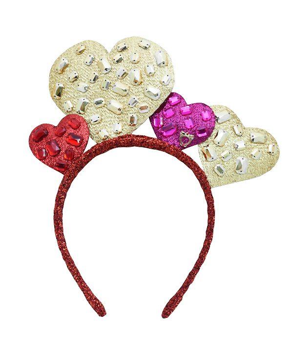 Heart parkle nylon headband